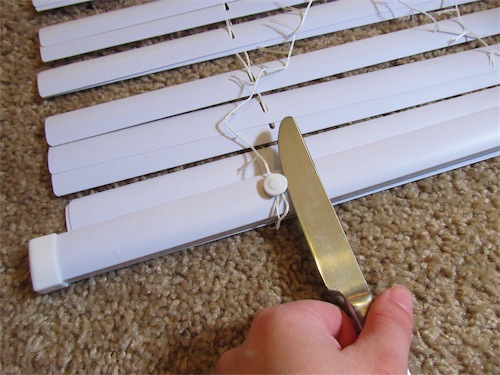 Diy Roman Shades From Mini Blinds Simply Mrs Edwards
