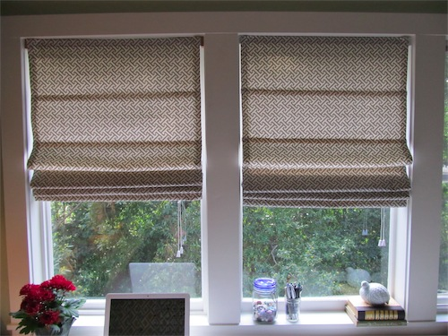 Diy roman shades from mini blinds simply mrs edwards that third window solutioingenieria Images