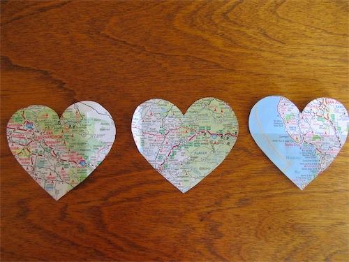 Heart Map Art // Simply Mrs. Edwards