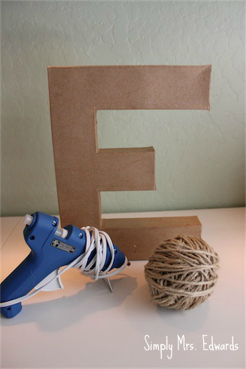 Jute Wrapped Monogram // Simply Mrs. Edwards